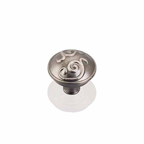 (Brushed Pewter Scrolled Dome Knob (HR531BNBDL))