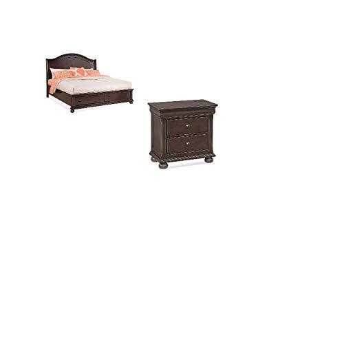 Merlot Queen Sleigh Bed - American Woodcrafters Hyde Park 2 Piece Bedroom Set - Queen