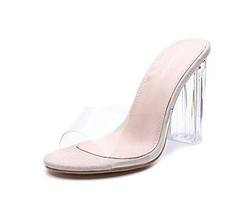 Heel Open Toe Mule Slide Samdal (apricot-40/9 B(M) US Women) ()