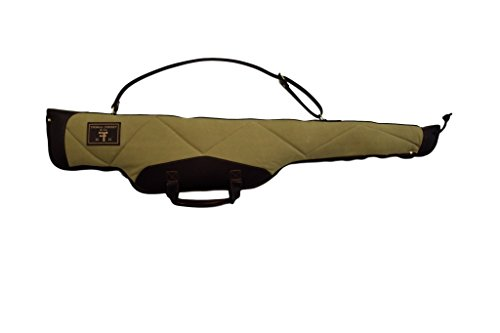 - THOMAS FERNEY Scoped Rifle Case - 24oz Waxed Quilted Canvas and Genuine Leather