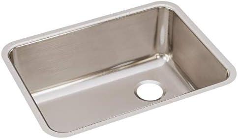 Elkay ELUH231710R Lustertone Classic Single Bowl Undermount Stainless Steel Sink