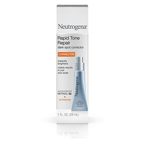 Neutrogena Rapid Tone Repair Dark Spot Corrector for Face & Hyaluronic Acid, Retinol, Vitamin C Serum -  Anti Wrinkle Face Serum & Acne Spot Corrector with Hyaluronic Acid, Retinol & Vitamin C, 1 oz