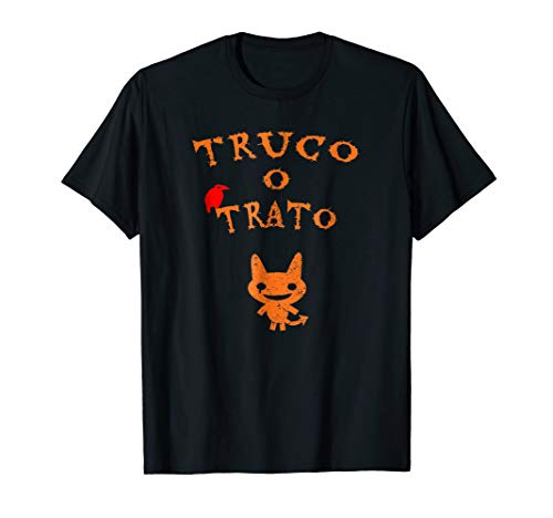Truco O Trato Halloween T-Shirt With Monster And Raven Funny ()