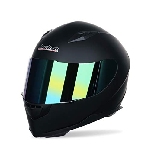 Männer Frauen Universal Full Face Motorradhelm Winter Thermische Antifogging Motorradhelm, Farbe Beschichtet Sicherheit…