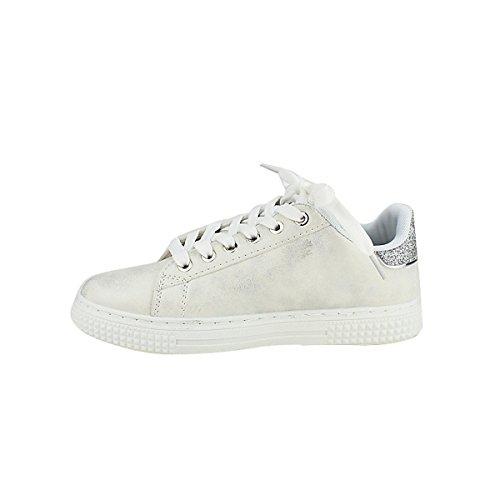 Blanc Blanche Pailletes Quenn Vivi Sneakers Femme Chaussures Cendriyon 8wSq07W