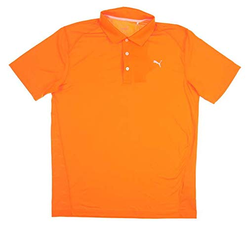 - PUMA New Mens Pounce Polo Medium M Vibrant Orange 570462 09