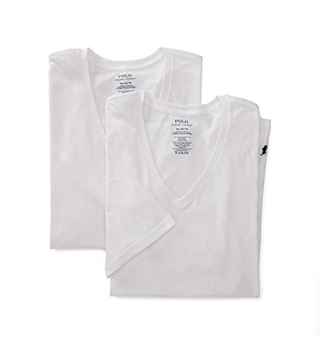 Polo Ralph Lauren Big and Tall V-Neck T-Shirt 2-Pack, 2XL, White