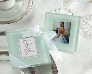 Glass Frosted Photo Coasters (Forever Photo Frosted Glass Coasters - Set of 25)