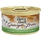 Fancy Feast Gravy Lovers Salmon Feast in Seared Salmon Flavor Gravy Cat Food, 3 oz, 12 Cans For Sale