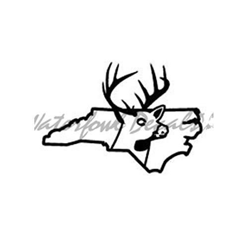 th Carolina Deer State Buck Hunting Car Truck Window Bumper Vinyl Graphic Decal Sticker DSNC1 ()