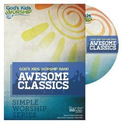 Awesome Classics - Simple Worship Series DVD + .mov files (Lyrics Awesome God)