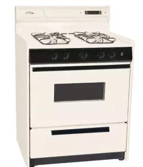 Summit SNM2307CKW: Deluxe bisque gas range in 30