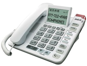 (RCP11241WTGA - RCA 1124-1WTGA Legend Series Amplified Big Button Corded Phone with Caller ID)