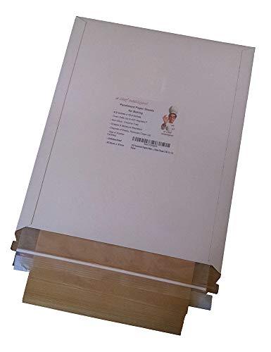 Unbleached Parchment Paper Baking Sheets, 100 Pcs, 8.2 x 12.2, for Quarter Sheet Pans (100, 8 x 12)