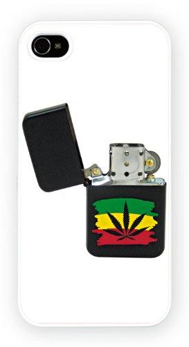 Rasta Marijuana, iPhone 5 5S, Etui de téléphone mobile - encre brillant impression