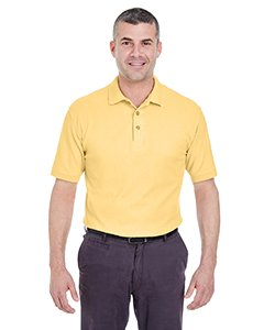 Ultra Club Men's Whisper Pique Polo Shirt, XL, Yellow