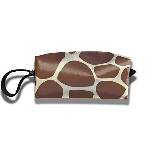 (Travel Cosmetic Bags With Zipper Giraffe Print Portable Makeup Hand Bag)