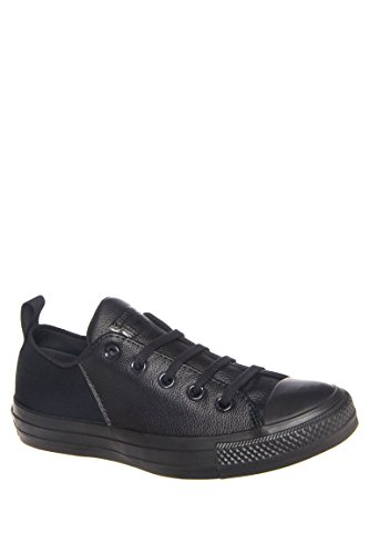 Converse Chuck Taylor All Star Abbby Monochrome Leather Ox Sneaker – Black – Womens – 7