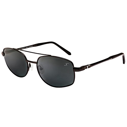 Xezo UV 400 Titanium Polarized Sunglasses, Black/chrome, 0.7 - Uv Sunglasses 500