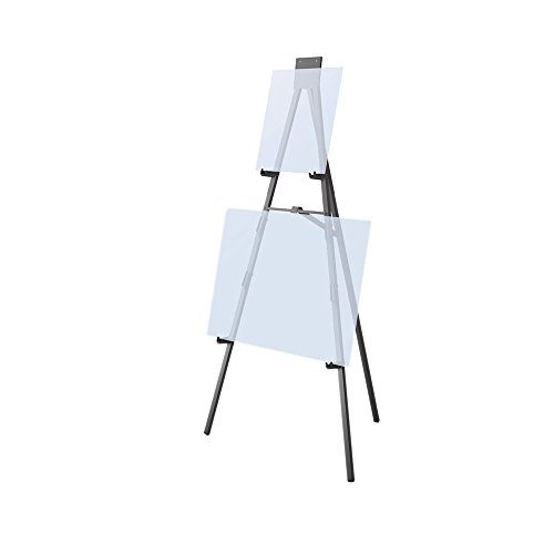 Testrite Visual Office Display Convention and Hotel 6' Black Facility Easel