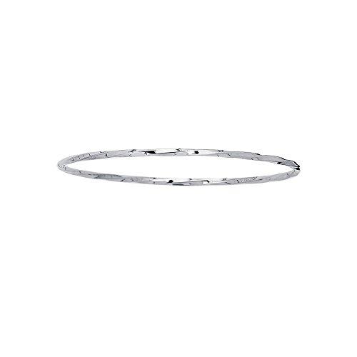"14 carats martelé 25 Blanc-Bracelet-JewelryWeb 8 """