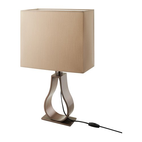 IKEA Table lamp, light brown, bronze color