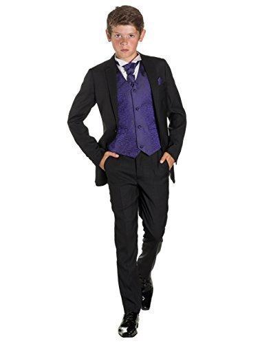 Paisley of London Niño Negro Traje, Corte Ajustado traje, Remolino ...