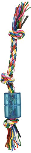 Mammoth 14-Inch TPR Squeaky Cloth Rope, Medium