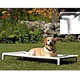 PetEdge PVC and Nylon Pipe Dream Elevated Dog Bed, Medium, My Pet Supplies