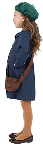 Color 38651 and War 7 Girl World II Blue Hat 9 Ages Costume Dress Evacuee Size Smiffy's Bag Medium UHwZqgx1H