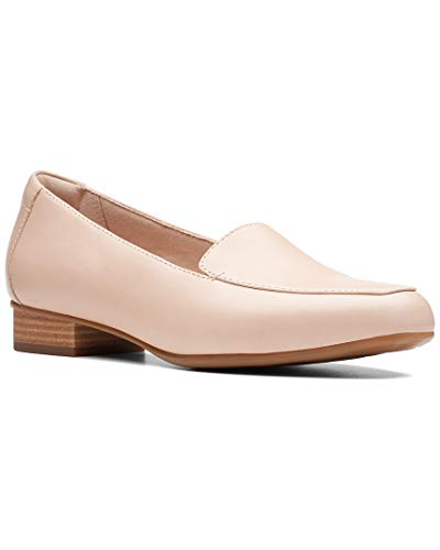 CLARKS Women's Juliet Lora Loafer Blush Leather 090 M - Loafers Womens Shoes Dress