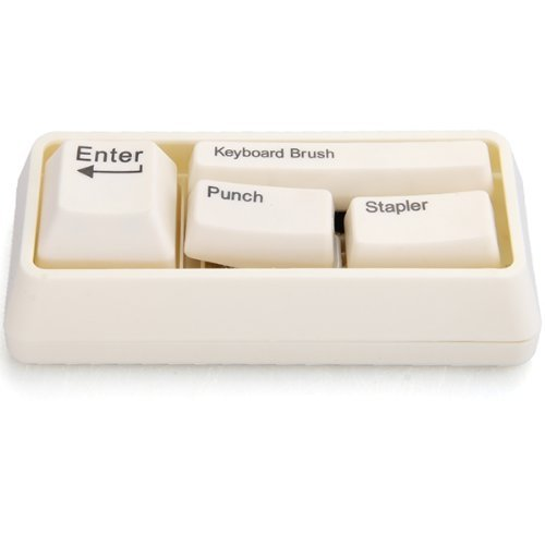 Stationery Keyboard With Brush Punch Paperclip Office, School Or Home Desk Perfectly