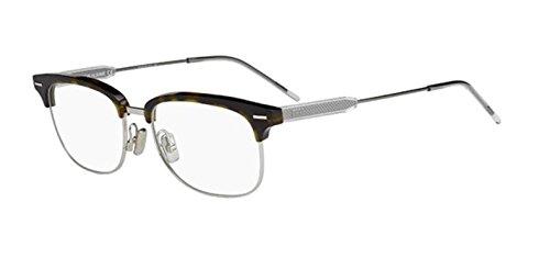 Authentic Christian Dior Homme 0215 45Z Havana Silver Eyewear Eyeglasses