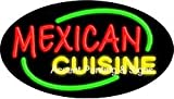 Mexican Cuisine Flashing Handcrafted Real GlassTube Neon Sign