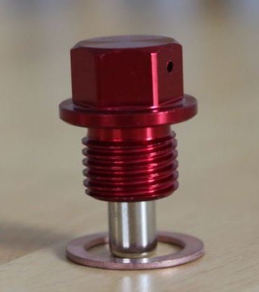M12 x 1.5 Thread Red Magnetic Sump Plug Kage