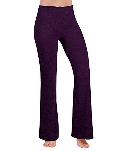 ODODOS Power Flex Boot-Cut Yoga Pants Tummy Control Workout Non See-Through Bootleg Yoga Pants,DeepPurple,Large ()