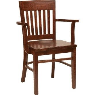 wooden chair. Kitchen / Dining Chairs -Wooden Beech Arm Chair Walnut Finish - Stylish And Robust Wooden
