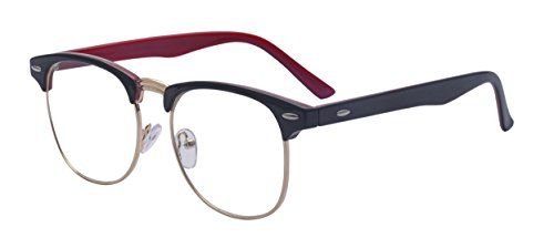 Outray Vintage Retro Classic Half Frame Horn Rimmed Clear Lens Glasses 2135c7 ()