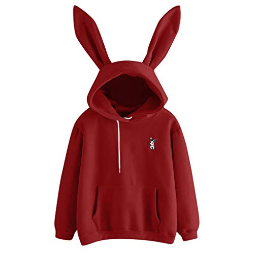 Sunhusing Ladies Cute Rabbit Ear Long Sleeve Hoodie
