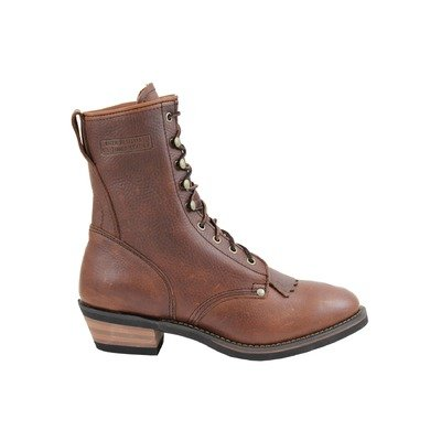 Toe Packer Boots - Adtec Ad Tec Men's Packer Western Work Boot Round Toe Brown 9 D