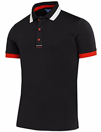 Bcpolo men 39 s polo shirt short sleeve dri fit for Dri fit collar shirts