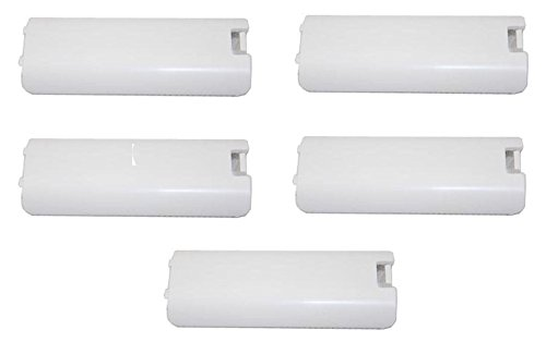 Cheap Games&Tech 5 x White Replacment Battery Cover for Nintendo Wii Controller Remote