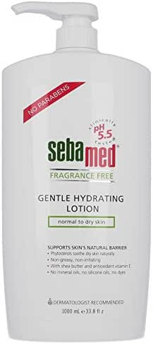 Sebamed Fragrance-Free Gentle Hydrating Lotion Ultra Mild Dermatologist Recommended Moisturizer for Normal To Dry Sensitive Skin 33.8 Fluid Ounces (1 Liter)
