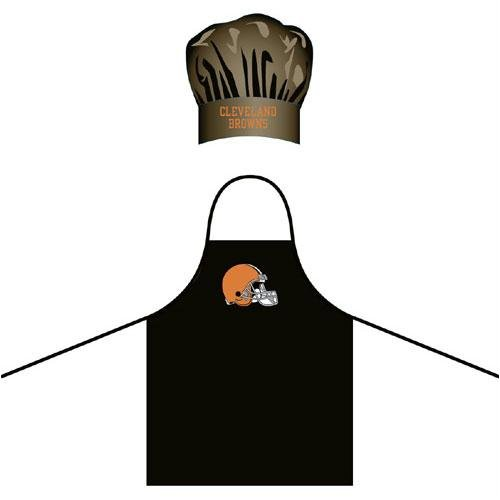 Cleveland Browns NFL Barbeque Apron and Chef's Hat