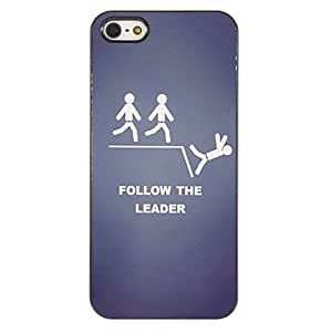 xiao Follow the Leader Pattern PC Hard Case with 3 Packed HD Screen Protectors for iPhone 5/5S