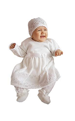 deine-Brautmode Babyjurk, doopjurk, gebreide jurk, feestjurk, baby, doop, jurk, gebreid