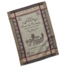 Design Imports French Dish Towels Bundle of 3 Grain Sack Fleur de Lis Kitchen Towels and 2 Cotton French Country D/écor Jacquard Dish Towels 5 Stylish Everyday Towels