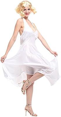 GIFT TOWER Disfraz de Marilyn Monroe Vestido de Halloween Mujer ...