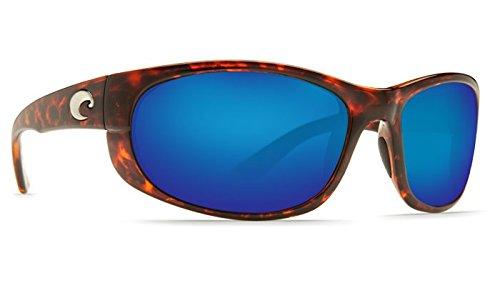 Costa Del Mar Howler 580P Howler, Tortoise Frame Blue Mirror Columbus-Mate, Blue - Howler 580p Costa