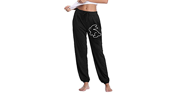 100/% Cotton Easter Bunny 1 Activewear for Womens Md76Oi/&KU Womens Athletic Sweatpants